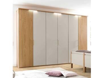 Loddenkemper Kleiderschrank Multi-Comfort, 302x223 cm, grau