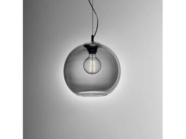 IDEAL LUX Pendelleuchte Nemo SP1, Grau Glas 40 cm A++