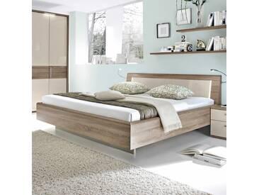 Loddenkemper Bett Luna 180 x 200 cm, Eiche Holzoptik