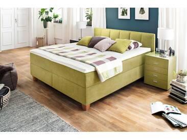 Oschmann Boxspringbett Simply Good 180 x 200 cm, Grün Stoff