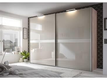 Staud Schwebetürenschrank Malaga, 278 x 222 cm, Beige Glas