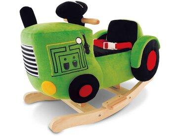 Schaukeltier Traktor, Grün Stoff