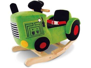 Schaukeltier Traktor /Dunkelgrün, Stoff
