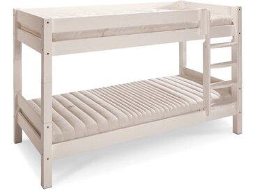 BEGABINO Etagenbett Eddi 90 x 200 cm /Kiefer Weiß, Holz