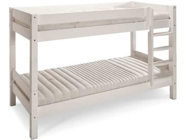 Etagenbett Weiß 90x200 : Kinderbett etagenbett pauli buche vollholz massiv weiß lackiert