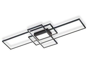 Reality Leuchten LED-Deckenleuchte Polygon /Schwarz, Alu, Eisen,
