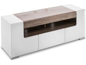 TV-Lowboard Milano /Weiß, Lack / Hochglanz 140 cm