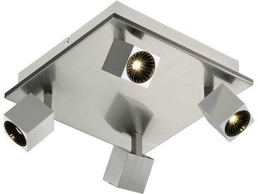 Trio LED-Strahler Cuba, silber Metall A+