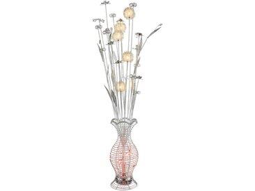 Globo LED-Stehlampe ANTON, Alu, Eisen, Stahl & Metall