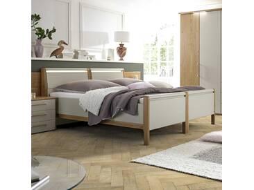 Loddenkemper Duo-Bett Multi-Comfort 180x200 cm, grau Holzoptik