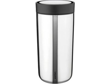 Stelton Thermobecher To Go Click 480 ml /Silber, 19 cm Edelstahl