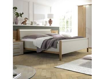 Loddenkemper Bett Multi-Comfort 180x200 cm, grau Holzoptik 180 x