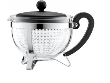 Teekanne Chambord 1000 ml /Schwarz, Edelstahl