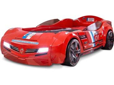 Cilek Autobett inkl. Matratze Biturbo 90 x 195 cm, rot Kunststoff