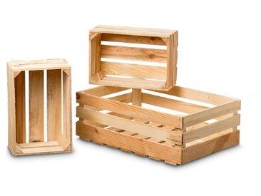 BOLTZE Deko-Kiste Porto 3tlg. /Braun, Holz