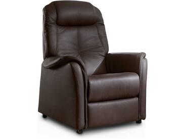 HUKLA Sessel Active Plus 6, Braun Leder