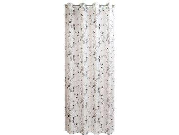 Ösenschal Roma 140 x 245 cm /Weiss / Grau, Polyester