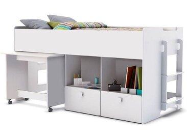 demeyere Funktionsbett Game 90 x 200 cm /Weiß, Holzoptik
