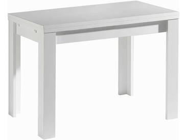 Mäusbacher Esstisch mit Auszug Zip 110/166 x 60 cm, Weiß