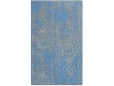 Kleine Wolke Badteppich Caracas 60 x 100 cm, Blau Baumwolle