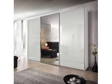 Nolte Möbel Schwebetürenschrank Evena, 270 x 223 cm, Weiß Glas