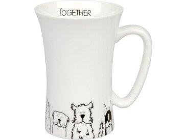 Kaffeebecher Funny Dogs 630 ml /Schwarz / Weiß, Porzellan