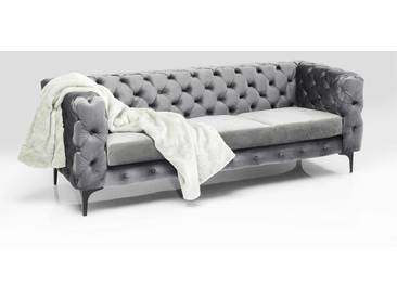 KARE Sofa Two Step, Grau Stoff 3-Sitzer
