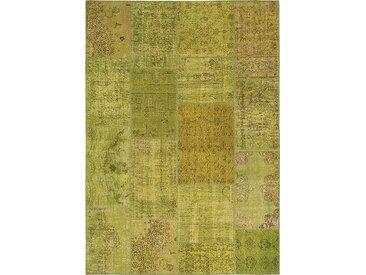 Vintage Teppich Patchwork 120 x 180 cm /Grün, Mischgewebe