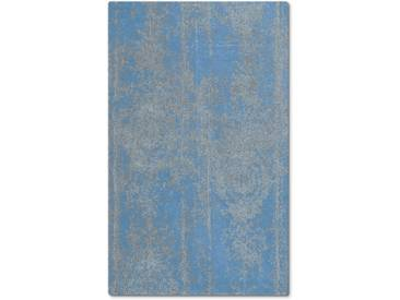 Kleine Wolke Badteppich Caracas 60 x cm, Blau Baumwolle