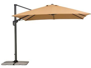 Schneider Schirme Ampelschirm Rhodos Twist sand /Sand, Polyester