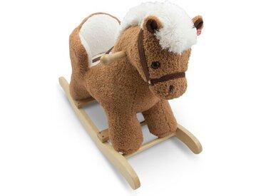 Schaukeltier Kleines Pferdchen /Dunkelbraun, Stoff