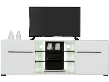 TV-Lowboard Trentino /Weiß / Hochglanz, Kunststoff