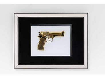 KARE Wandbild 80 x 60 cm Frame Mirror Gold Gun, gold Glas