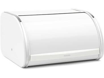 brabantia Brotkasten 31,6 x 26,2 cm, Weiß Stahl