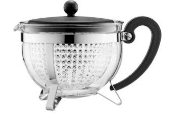 Teekanne Chambord 1300 ml /Schwarz, Edelstahl