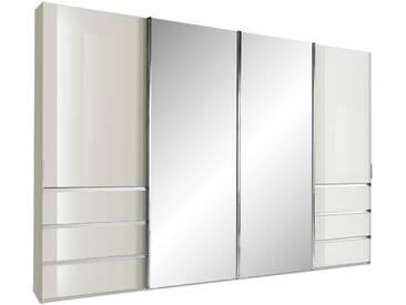 Wiemann Schwebetürenschrank Malibu, 330 x 236 cm, creme Glas