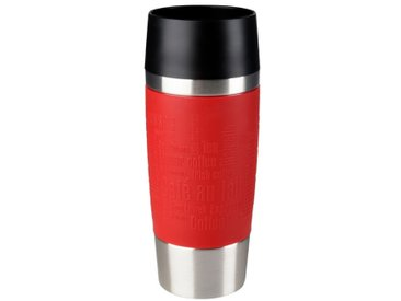 emsa Isolierbecher Travel Mug 360 ml /Weinrot, Edelstahl