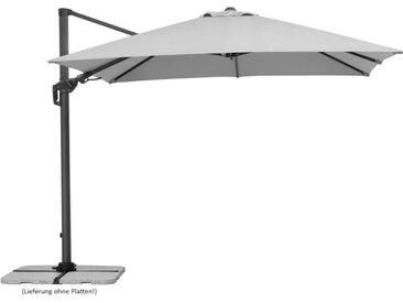 Schneider Schirme Ampelschirm Rhodos 300 x cm /Silber, Polyester