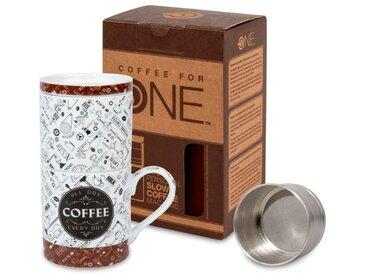 Kaffeebecher Coffee Talk /Braun, Porzellan