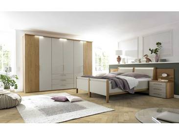 Loddenkemper Schlafzimmer-Set Multi-Comfort 4tlg., grau Holzoptik