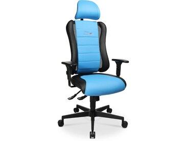 Sitness Drehstuhl RS, blau Lederoptik