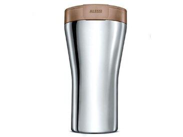 Alessi Kaffeebecher To Go /Braun, Edelstahl