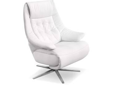 HUKLA Sessel CA04, Weiß Leder
