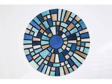 KARE Teppich Freccetta Colore 61543, Blau Fell