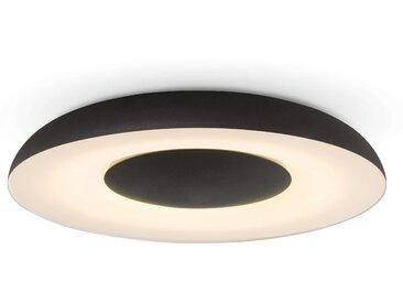 Philips LED-Deckenleuchte Hue Still, Schwarz Alu, Eisen, Stahl &