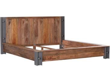 Gutmann Factory Massivholzbett Contour 140 x 200 cm, braun Holz