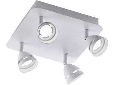 Trio LED-Strahler GEMINI, Weiß Alu, Eisen, Stahl & Metall A+