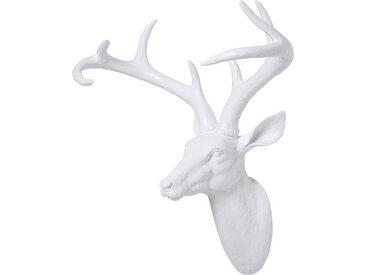 KARE Deko-Objekt Rentier /Weiß, 45 cm Polyresin