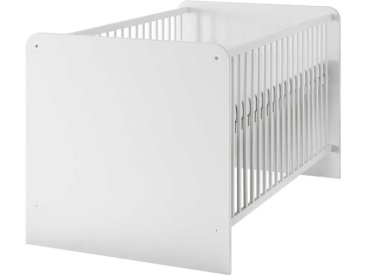 BEGABINO Babybett Bibo 70 x 140 cm, Weiß