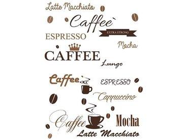 EUROART Sticker 50 x 70 cm Coffee IV /Braun, Kunststoff